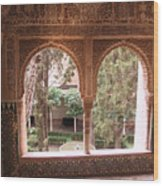 Window In La Alhambra Wood Print