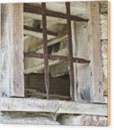 Window In The Amana Farmer's Market Barn Amana Ia Wood Print