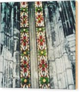 Window In The Lisbon Cathedral Wood Print