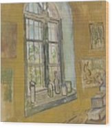 Window In The Studio Saint-remy-de-provence, September - October 1889 Vincent Van Gogh 1853 - 1890 Wood Print