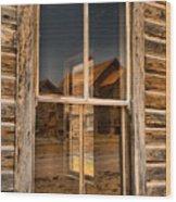 Window Into The Montana Past Wood Print