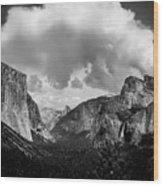 Window Into Yosemite Wood Print