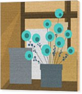 Window Light Wood Print by Val Arie