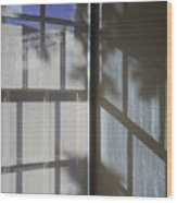 Window Lines Wood Print