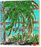 Window Loving Fern Wood Print