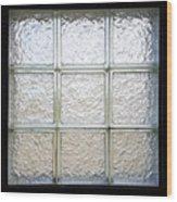 Window Of Glass Wood Print