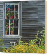 Window Of Olson House Wood Print