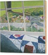 Window On Spring Wood Print