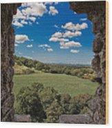 Window On The Past Wood Print