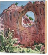Window Rock Wood Print