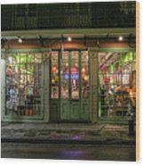 Window Shopping, French Quarter, New Orleans Wood Print