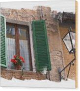 Window Siena Italy Wood Print