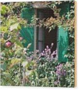 Window To Monet Wood Print