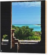 Window To Paradise Wood Print