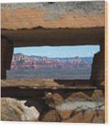 Window To Sedona Wood Print