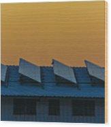 window to Solar power Wood Print