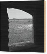 Window To The Battle Field Wood Print