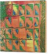 Window To The Garden Wood Print