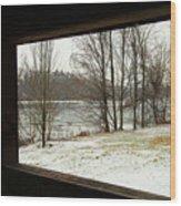 Window To Winter Wood Print