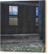 Window View Wood Print