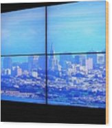 Window View Of San Francisco Wood Print