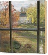 Window View Of Shakertown Wood Print
