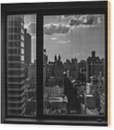 Window View Wood Print