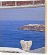 Window View To The Mediterranean Wood Print