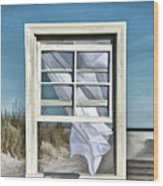 Window With A View Wood Print