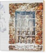 Window With Shadow On The Wall Wood Print