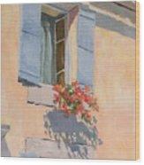 Windowbox Flowers Wood Print