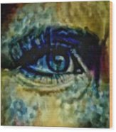 Windows Into The Soul Eye Painting Closeup All Seeing Eye In Blue Pink Red Magenta Yellow Eye Of Go Wood Print