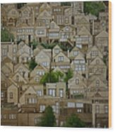 Windows Of Bernal Heights Wood Print
