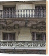 Windows Over Barcelona Wood Print
