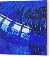 Windows Reflected On A Blue Bowl 3 Wood Print