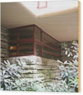 Windows Stones Fallingwater  Wood Print