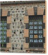Windows With Steel Grates Wood Print