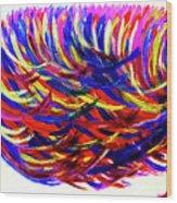 Winds Of Paint Wood Print