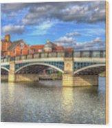 Windsor Bridge River Thames Wood Print