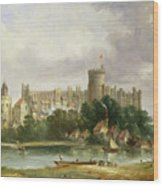 Windsor Castle - From The Thames Wood Print