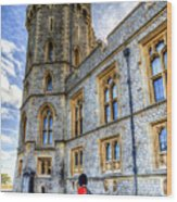 Windsor Castle And Coldstream Guard Wood Print