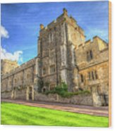 Windsor Castle Architecture Wood Print