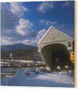 Windsor Cornish Bridge And Mount Ascutney Wood Print