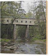 Windsor Mills Covered Bridge 3 Wood Print