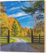 Windstone Farm Wood Print