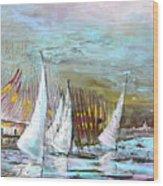 Windsurf Impression 03 Wood Print