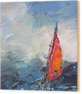 Windsurf Impression 04 Wood Print