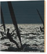 Windsurfing At Cape Hatteras National Wood Print