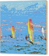 Windsurfing Wood Print