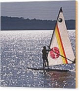 Windsurfing Lake Champlain Wood Print